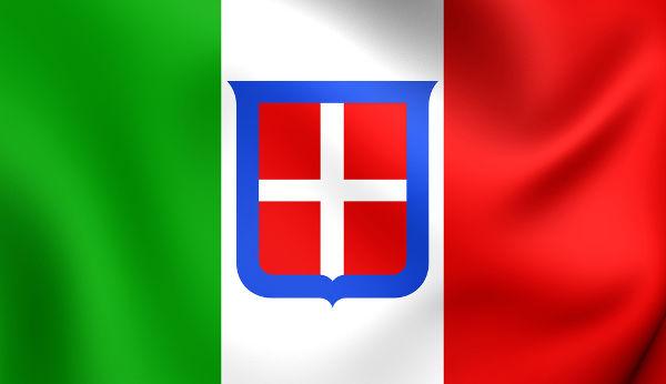 Bandeira da Itália durante o período que os fascistas estiveram no poder do país (1922 a 1945).