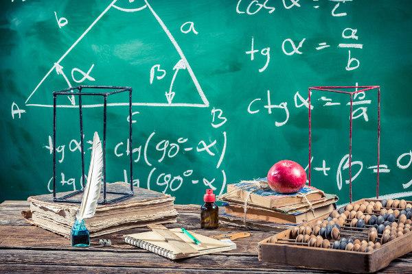 Seno, cosseno e tangente são relações estudadas em triângulos.