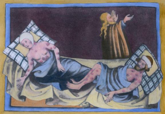 A peste negra foi uma pandemia de peste bubônica que causou a morte de até 2/3 da população europeia.