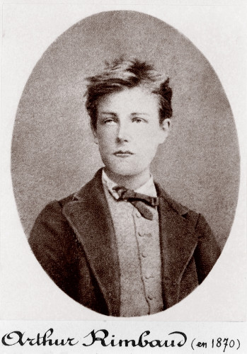 Retrato do jovem poeta Arthur Rimbaud.