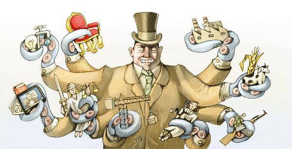 Uma das maiores críticas ao capitalismo diz sobre o fato de que um número muito pequeno de pessoas detém grande parte da riqueza do mundo.