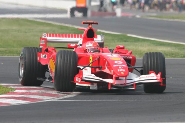 O heptacampeão Michael Schumacher, no GP do Canadá de 2005 [6]