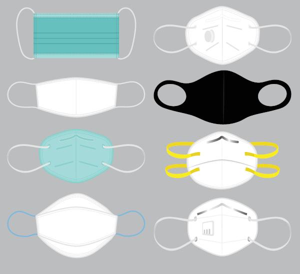 Existem diferentes tipos de máscara e nem todas garantem o mesmo grau de proteção.