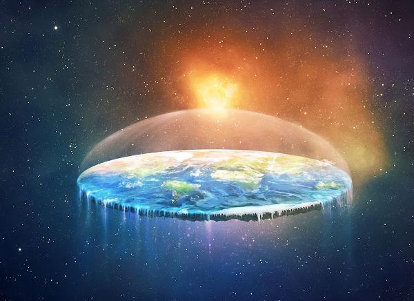 De acordo com os terraplanistas, este seria o formato da Terra.