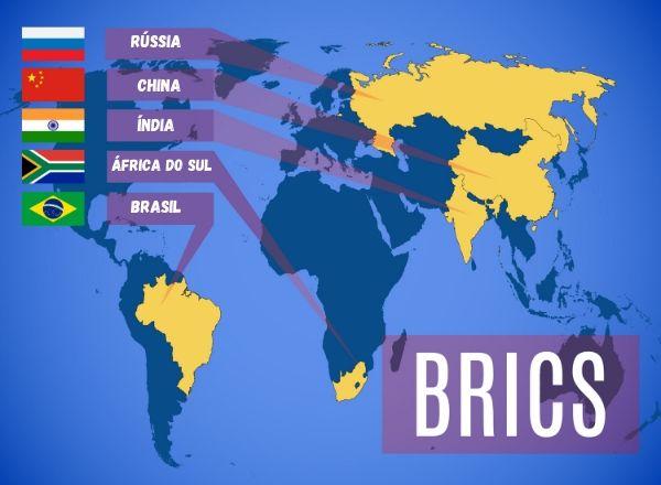 Localizações do BRICS.