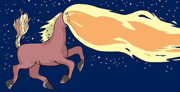 A mula sem cabeça é uma das principais lendas presentes no folclore brasileiro.