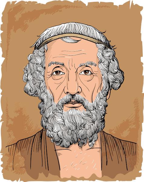 Homero (928 a.C.-898 a.C.) é considerado o autor das duas mais importantes epopeias do Ocidente. [1]
