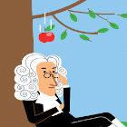 Desenho representando Isaac Newton