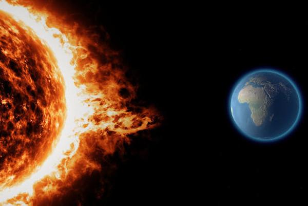 A cada segundo, o Sol emite cerca de 65 bilhões de neutrinos por centímetro quadrado.