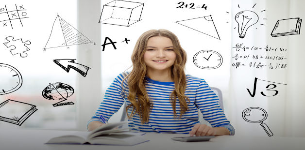 Jovem estuda matemática