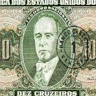 Getúlio Vargas estampado em nota de dinheiro