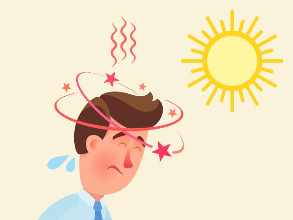 A hipertermia pode provocar tontura e dor de cabeça.