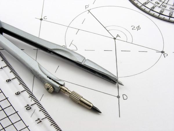 Os ângulos na circunferência são estudados pela geometria plana.