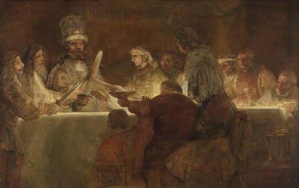 O conceito de bárbaro surgiu entre os gregos e foi transmitido para os romanos. Na imagem, uma representação de batavos, povo germânico.