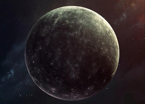 Mercúrio é um planeta que possui a superfície escura.