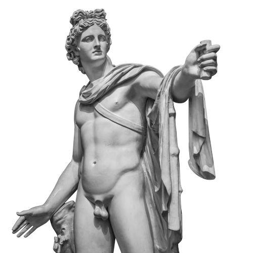 Apolo era o deus grego do Sol, da música, das artes, da medicina etc. Era o filho de Zeus e Leto.