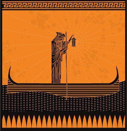 Os gregos acreditavam que a travessia das almas para o mundo dos mortos era feita pelo barqueiro Caronte.