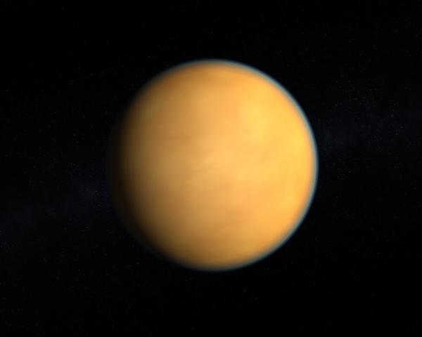 Representação visual de Titã, maior lua de Saturno.