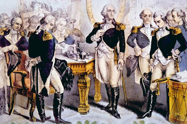 Em 1783, George Washington decidiu se aposentar do exército norte-americano.