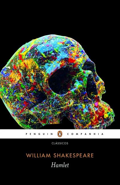 """Capa do livro """"Hamlet"""", de William Shakespeare, publicado pela editora Companhia das Letras.[1]"""