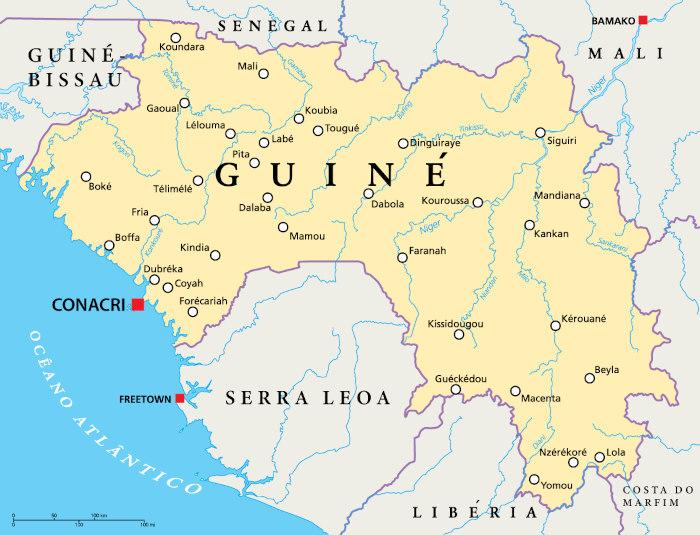 Localização da Guiné.