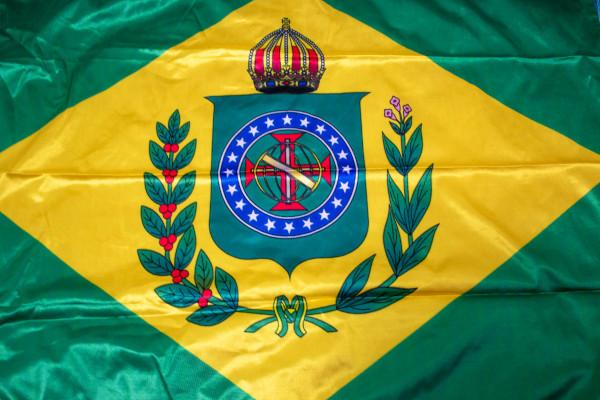 Bandeira do Império brasileiro, que vigorou de 1882 a 1889.