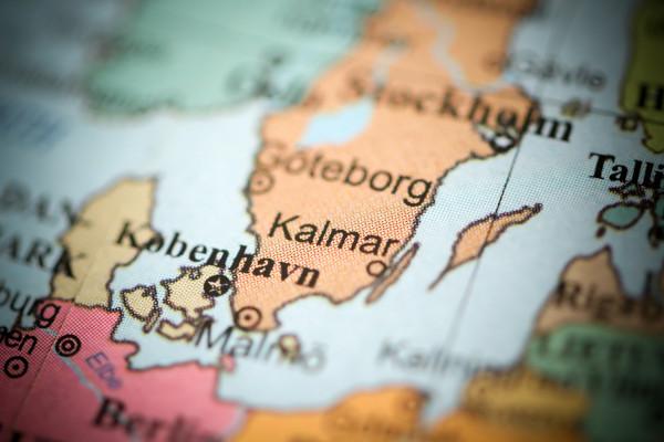 Localização de Kalmar, na Suécia, onde surgiu o volvismo.