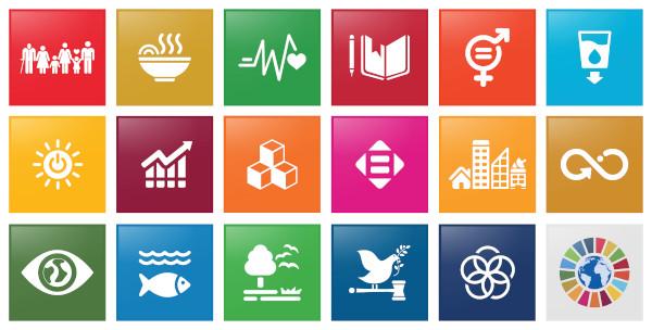 Representação gráfica dos Objetivos do Desenvolvimento Sustentável (ODS).