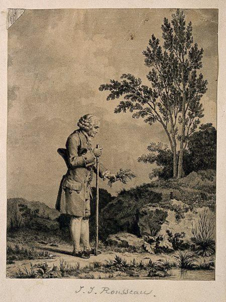 Retrato de Rousseau desbravando a natureza.