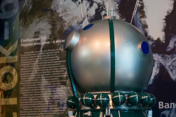 Réplica da cápsula da Vostok 6, a espaçonave que levou Valentina Tereshkova para o espaço.[2]