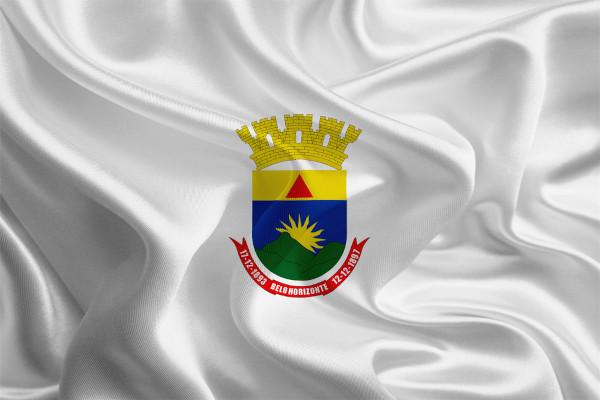 Bandeira de Belo Horizonte, capital de Minas Gerais.