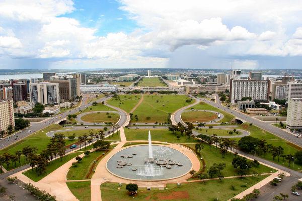 Vista aérea da cidade de Brasília