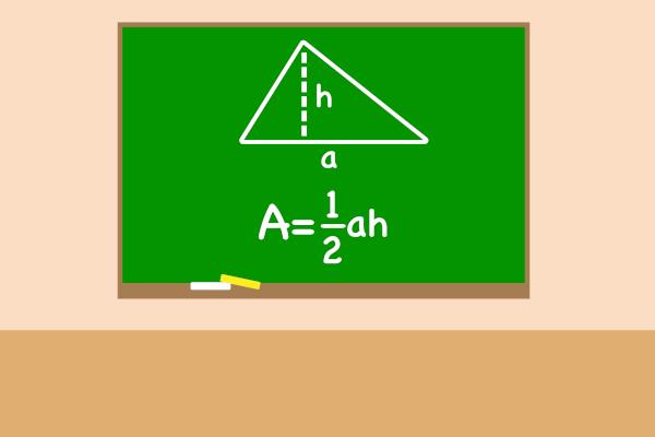 Fórmula da área do triângulo.