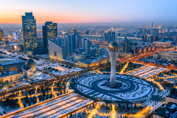 Vista aérea de Nursultan