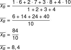 Cálculo de média aritmética ponderada do candidato Belchior