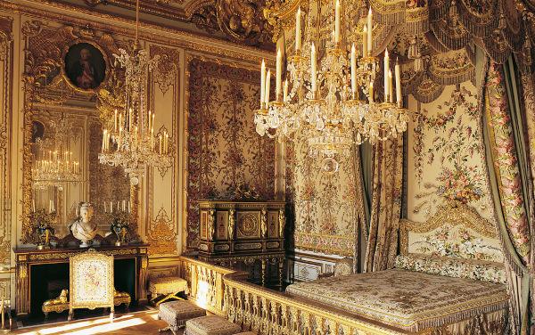 Quarto de Maria Antonieta no Palácio de Versalhes.[1]
