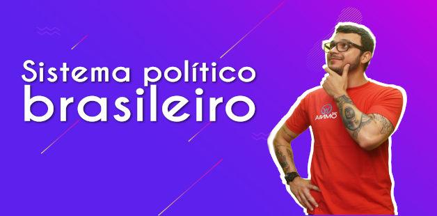 Thumbnail com o professor da videoaula sobre sistema político brasileiro