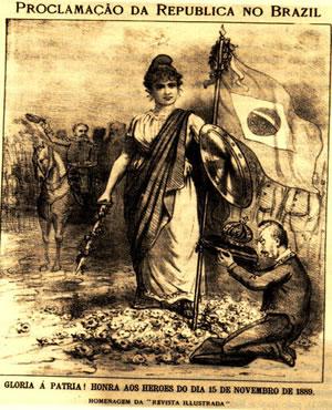 Alegoria da República Brasileira, de Ângelo Agostini (1843-1910), publicada na Revista Illustrada, em 1889