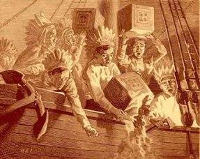 Boston Tea Party: ensaio do processo de independência dos EUA.