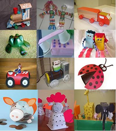 Os brinquedos feitos a partir de sucata servem para despertar nos alunos atitudes mais sustentáveis