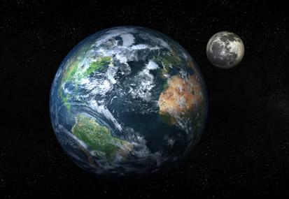 A presença da atmosfera e de água em estado líquido são alguns dos fatores que possibilitaram a formação de vida no Planeta Terra