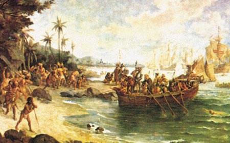 Desembarque de Cabral em Porto Seguro, de Oscar Pereira da Silva.