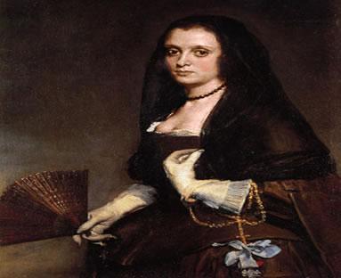 """Os rostos da nacionalidade espanhola """"Dama com leque"""". Diego Velásquez (1599-1660) – Espanha"""
