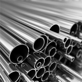 Pilha de tubos de aço