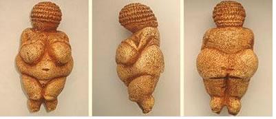 Escultura Rupestre intitulada Vênus de Willendorf