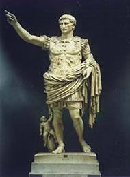 Estátua de Augusto em Roma.