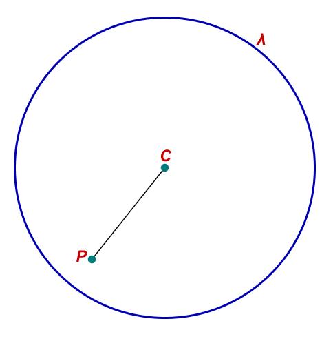 Posição relativa: ponto pertence à circunferência