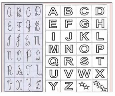 Uso Da Letra De Forma X Letra Cursiva Na Alfabetiza    O     Uma