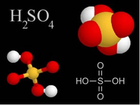Fórmulas químicas do ácido Sulfúrico