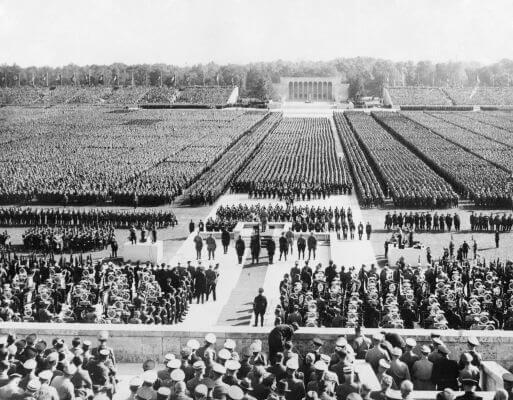 As Leis de Nuremberg foram elaboradas durante o comício anual do Partido Nazista, em 1935.*